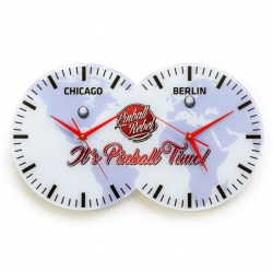Wanduhr Its Pinball Time - Chicago/Berlin