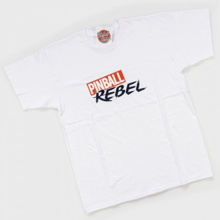 T-Shirt Pinball Rebel / White