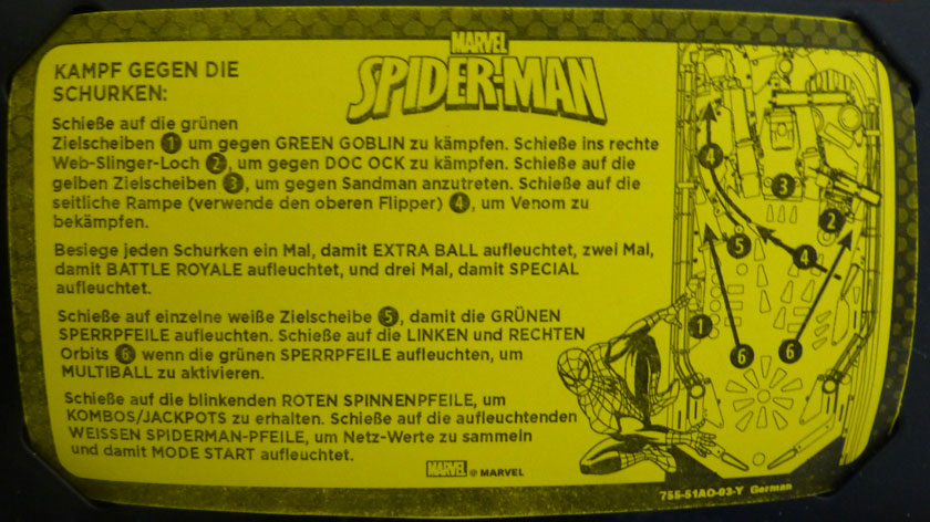 Scorecard Spielanleitung Ultimate Spider-Man Vault Edition