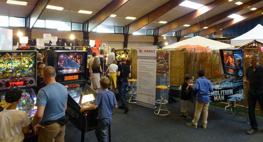 Pinball Messestand auf der The Jukin 50s 2016