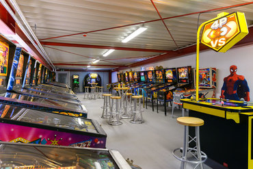 PAC-MAN, STAR WARS und Flipperautomaten in der Allstars-Area