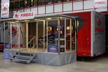 Ein mögliches Miet-Modul: Showtruck als mobile Pinball-Location.