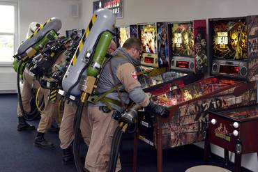 Auch andere Flippermodelle werden von  den Ghostbusters Niedersachen Probe gespielt