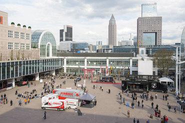 Unser Pinball-Camp auf dem Freigelände der Musikmesse Frankfurt 2016