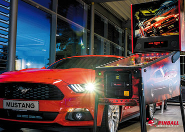 Postkartenmotiv Pinball meets Ponycar - Mustang Pro