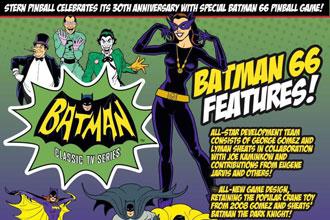 Batman 66 ist nächster Stern Pinball