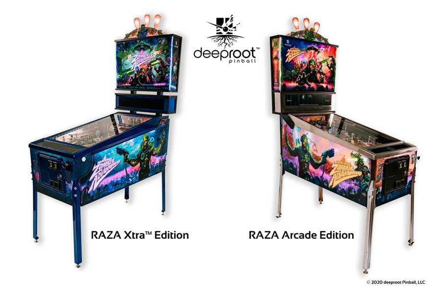deeproot RAZA Pinball Versionen
