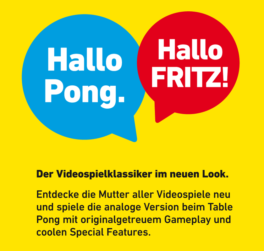 Deutschland Premiere des Atari Pong Tables auf der CEBIT in Hannover auf dem Messestand von AVM.