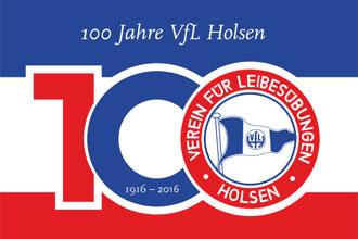 Festprogramm 100 Jahre VFL Holsen vom 26. bis 28. August 2016